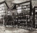 Plymouth University, Levinsky Building (rear elevation) daytime