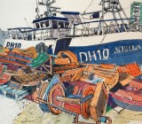 Plymouth Fishmarket and 'Aquila' Fishing Boat